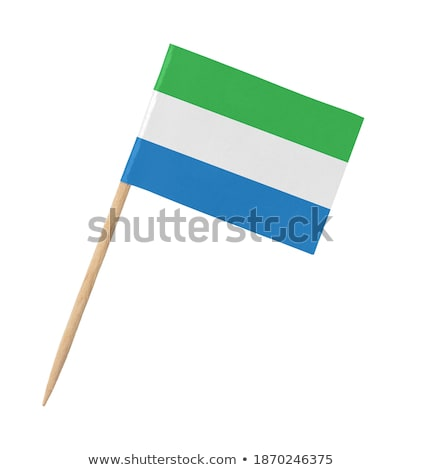 Stock photo: Miniature Flag of Sierra Leone