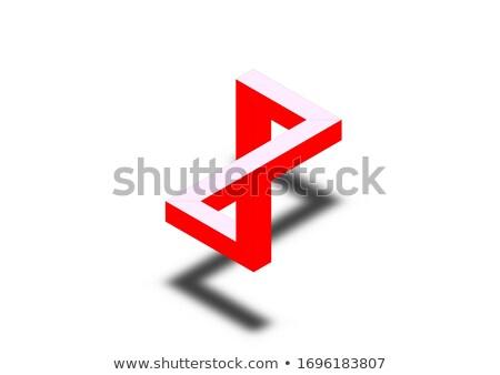 two penrose triangles optical illusion  business logo stock photo © shawlinmohd