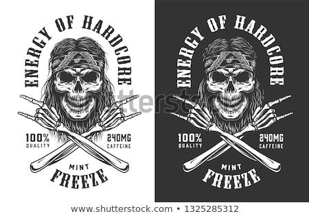 cráneo · gráfico · vector · imagen · ilustración · cara - foto stock © fmuqodas