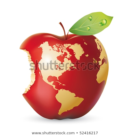 Vector red apple earth Stock photo © Lota