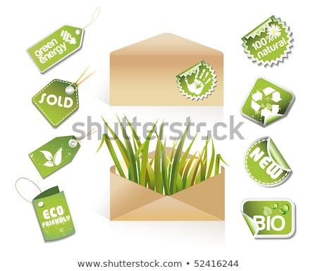 Post eco idée autocollants affaires Photo stock © Lota