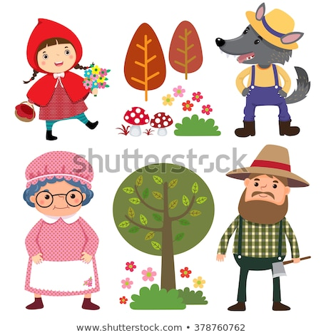 Сток-фото: Little Red Riding Hood Characters