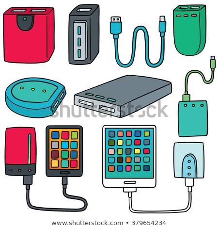 Electrical cable and tablet on the drawings Stock photo © cherezoff