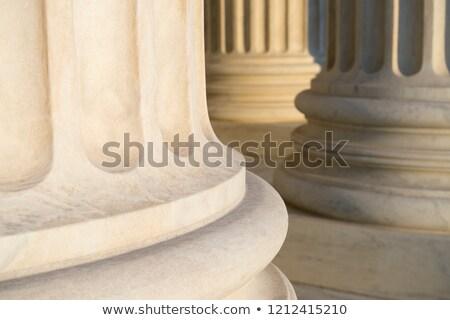 tribunal · edificio · vista · buscando · azul · cielo - foto stock © ambientideas