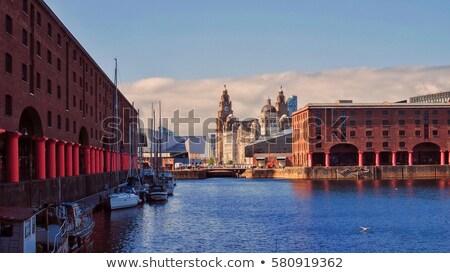 Dok Liverpool historyczny Anglii budynku podpisania Zdjęcia stock © chrisdorney
