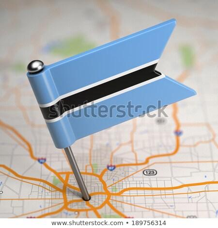 Botswana klein vlag kaart republiek selectieve aandacht Stockfoto © tashatuvango