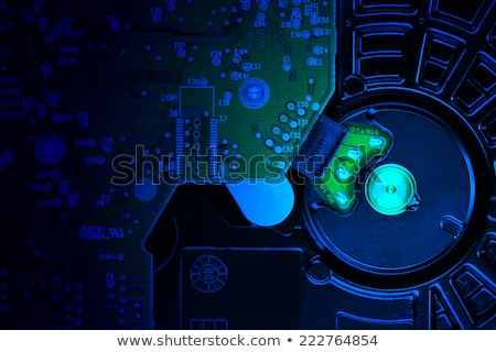 Computer hard disk close up detail Stock photo © stevanovicigor