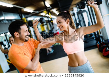 Stockfoto: Personal · trainer · stagiair · advies · sport · lichaam · fitness