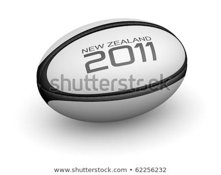 Új-Zéland rögbi 2011 illusztráció felirat szimbólum Stock fotó © patrimonio