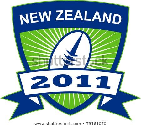 Neozelandese rugby 2011 scudo illustrazione Foto d'archivio © patrimonio