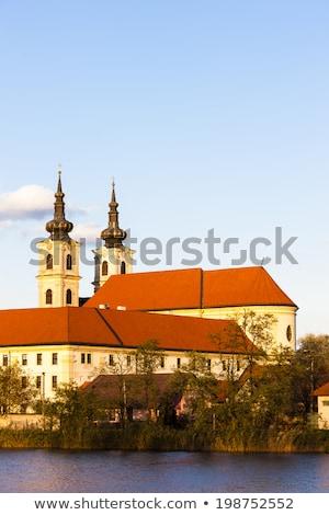 Bazilika bayan manastır Slovakya Bina seyahat Stok fotoğraf © phbcz
