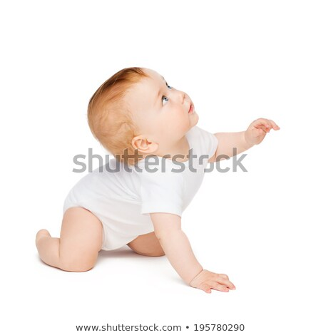 crawling curious baby looking up Stock photo © dolgachov