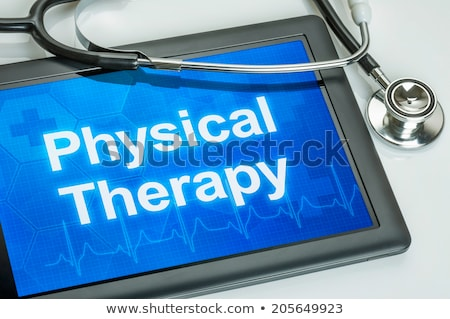 физиотерапия · улыбка · врач · тело · осуществлять · подготовки - Сток-фото © zerbor