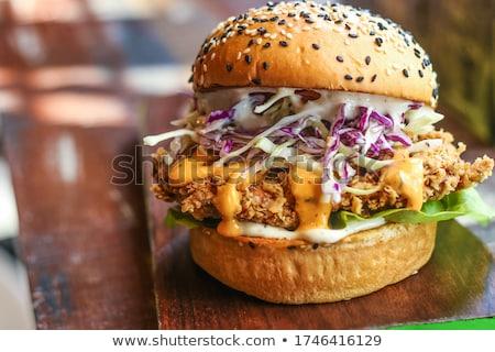 clubsandwich · geïsoleerd · witte · groene · brood · kaas - stockfoto © m-studio
