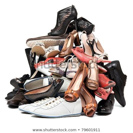Schuhe weiß männlich Sport Paar Hintergrund Stock foto © EwaStudio