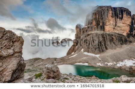 Tó nyár kilátás völgy hegy hó Stock fotó © Antonio-S