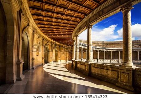 表示 · 壁 · アルハンブラ宮殿 · スペイン · 強い · 城 - ストックフォト © nito