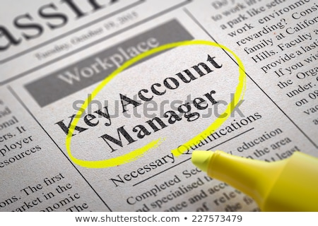 Sleutel rekening manager krant baan Stockfoto © tashatuvango