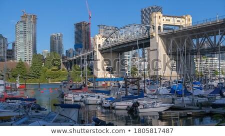 sokak · köprü · şehir · merkezinde · Vancouver · tekneler · gökyüzü - stok fotoğraf © jameswheeler