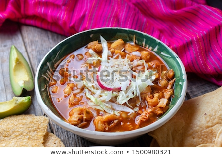 Pozole Рохо Stock photo © fanfo
