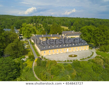 garden of Kozel Castle, Czech Republic Stock photo © phbcz
