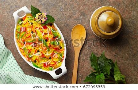 basmati · riso · ciotola · fresche · cotto · vegetali - foto d'archivio © zerbor