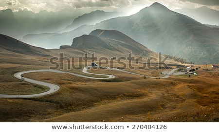 Serpentine road at Passo Giau, Dolomites, Italy Stock photo © fisfra