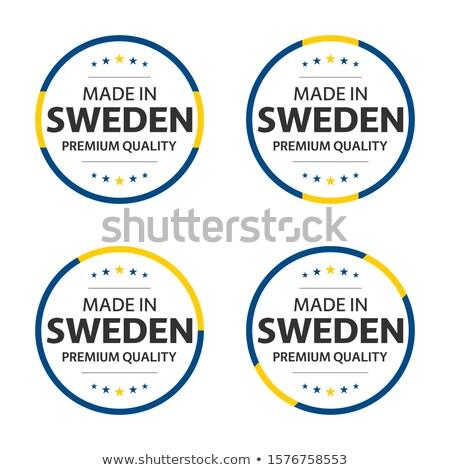 Botão símbolo Suécia bandeira mapa branco Foto stock © mayboro1964