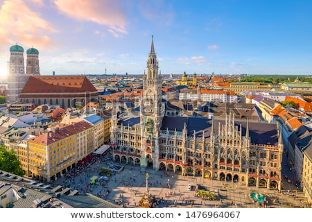 Torre ayuntamiento Munich imagen cielo ciudad Foto stock © w20er