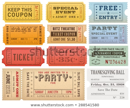vector vintage ticket background stock photo © m_pavlov