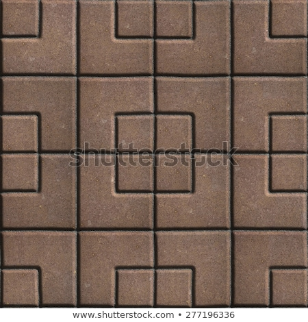 Brown Paving Slabs of the Figures Different Geometrical Shape. Stock photo © tashatuvango