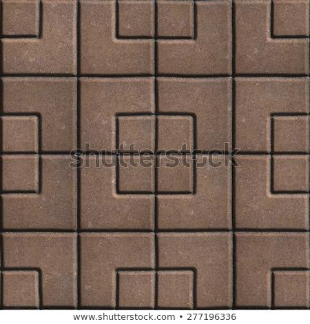 brown paving slabs of the figures different geometrical shape stock photo © tashatuvango