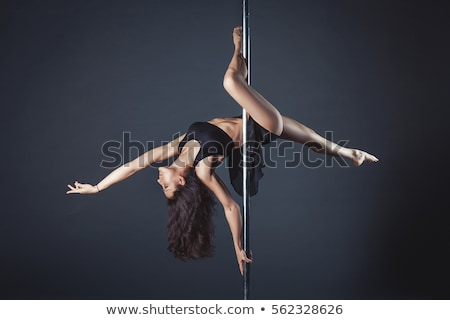 belo · pólo · dançarina · menina · silhueta · caber - foto stock © kasjato