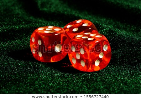 three red dices on green stock photo © rob_stark