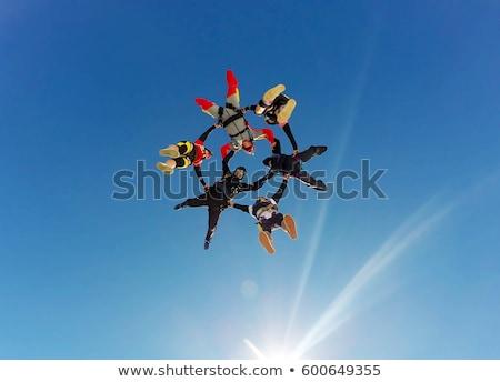 céu · mergulhador · pára-quedas · pára-quedismo · ícone · vetor - foto stock © Dxinerz