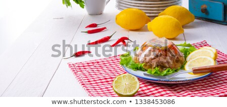 Pork aspic on a plate Stock photo © tang90246