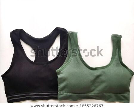 vrouw · lingerie · poseren · kruk · mooie · slank - stockfoto © stryjek