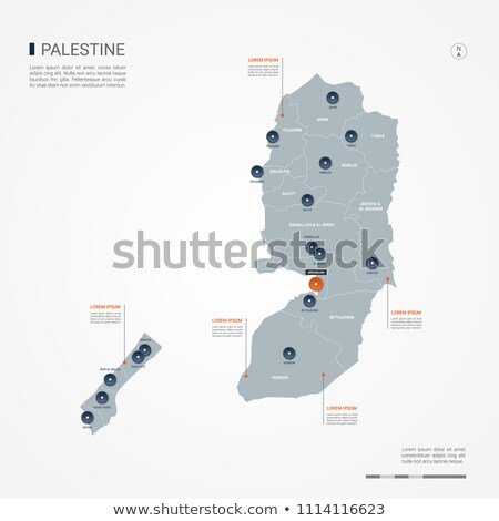 orange button with the image maps of palestine stock photo © mayboro