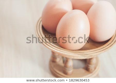 Chiuso up fresche pollo uova stock Foto d'archivio © punsayaporn