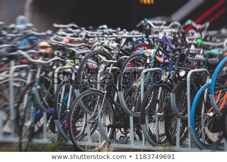 Bicycle parking in Eindhoven Central Station Stock photo © amok