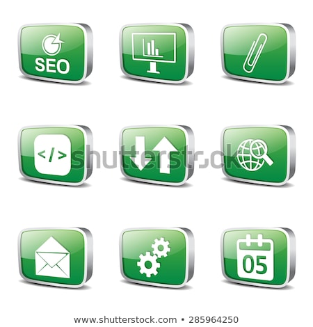 seo internet sign square vector green icon design set 6 stock photo © rizwanali3d