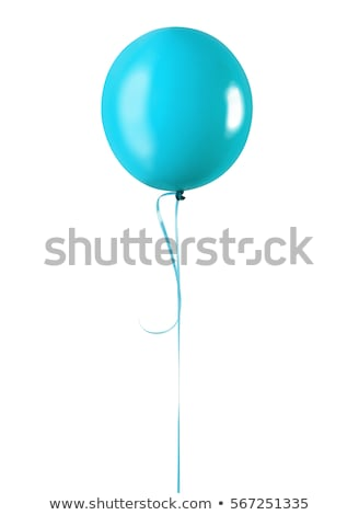 Bleu ballon isolé une blanche illustration Photo stock © make