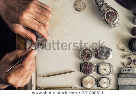old watch and screwdriver stock photo © mikko