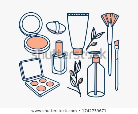 Vloeibare make stichting buis borstel geïsoleerd Stockfoto © tetkoren