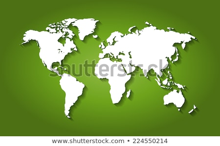 green world map 3d dots vector stock photo © beaubelle