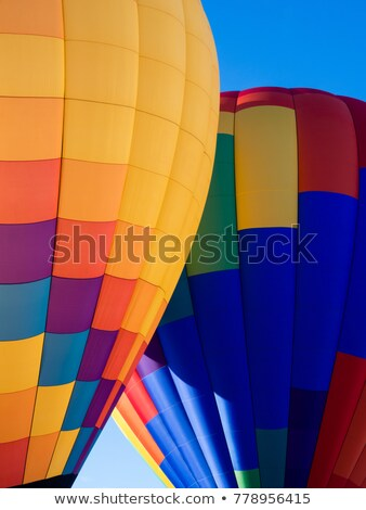 Two hot-air balloons inflating on the ground Stock photo © Balefire9
