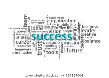 werk · woord · mannelijke · hand · business · Blauw - stockfoto © fuzzbones0