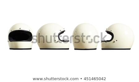 Red helmet isolated on white Stock photo © tetkoren