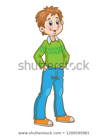 young smiling boy with his hand in pocket Stock photo © feedough