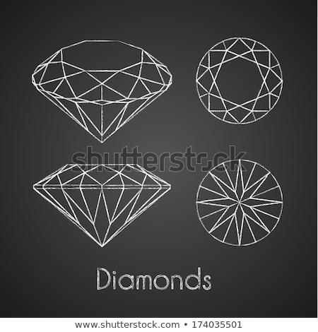 Diamond gemstone, vector illustration Stock photo © carodi